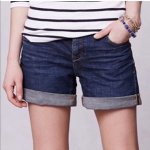 Anthropologie Denim shorts pilcro blue jean cuffed